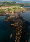 Aerial photography of cornwall, this photo is the Lizard Point